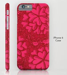 Heats and Holly Phone Case  Hot Pink  for Galaxy by MinaMiyaki