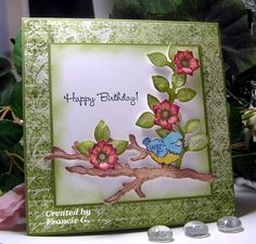 Birds and Blooms Birthday (FG) by Francie G. - Cards and Paper Crafts at Splitcoaststampers