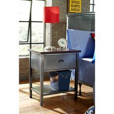 Urban Quarters Black Steel Nightstand Hillsdale Furniture Nightstands Nightstands Bedroom