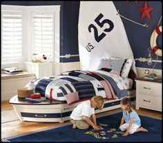 nautical bedroom and playroom