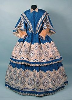 Dress, c.1850's. I love the color