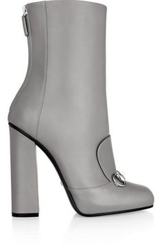 Heel measures approximately inches Gray leather Zip fastening along back Grey Leather Boots, Grey Ankle Boots, Leather High Heel Boots, Grey Booties, Leather Ankle Boots, Ankle Booties, Bootie Boots, Grey Shoes, Women's Shoes