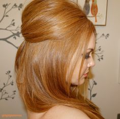 Teased Strawberry Blonde Hair - GirlGetGlamorous