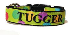 Bright Dots Dog Collar Personalized Dog by TheMonogrammedMutt, $28.00