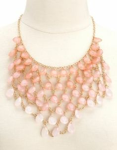 tear drop faceted bead necklace