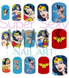 Wonder Woman Nail Art Water Transfer Decal  by SuperSexyNailArt, $4.99 @Caneesha Medlock