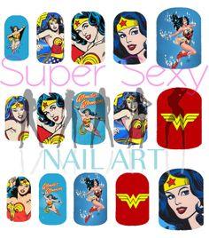 Wonder Woman Nail Art Water Transfer Decal  by SuperSexyNailArt, $4.99 @Caneesha Medlock
