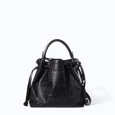 Image 1 of LEATHER BUCKET BAG from Zarahttp://www.zara.com/us/en/woman/handbags/leather-bucket-bag-c358019p1778679.html