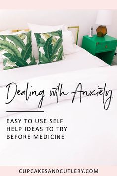 Looking for anxiety relief techniques and tips? Try these easy DIY remedies like remembering to breathe through the stress. #selfhelp #anxiety #cupcakesandcutlery #mentalhealth #wellness #selfcare