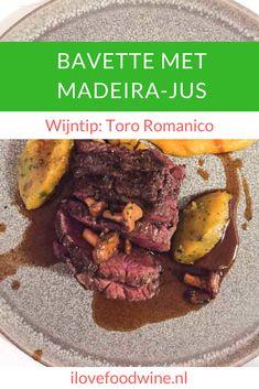 Recept Bavette met madeira jus en pompoen. Bavette is een steak met een stevige bite en wat meer vetmarkering. De gebakken cantharellen maken het geheel helemaal af. Een heerlijk herfstgerecht! Serveer er een volle rijke rode wijn bij, zoals de Toro Romanico uit Noord-Spanje of een Valpolicella Ripasso. Xmas Dinner, I Love Food, Wine Recipes, Barbecue, Food And Drink, Dishes, Meat, Desserts, Drinks