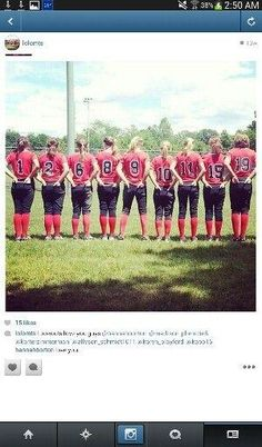 Cute softball team picture by meghan
