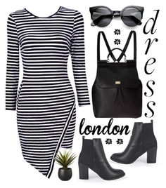 """""""#longsleevedress"""" by kate-rattigan ❤ liked on Polyvore featuring Boohoo, Dolce&Gabbana, CB2 and longsleevedress"""