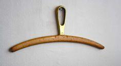 Carl Aubock vintage brass & leather hanger