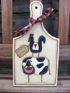 Tagliere country friends by countrykitty, via Flickr