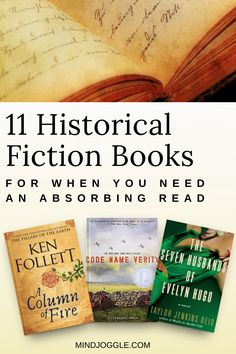 11 Historical Fiction Books for When You Need an Absorbing Read. If you love historical fiction and are trying to read more books, try out these page turner historical novels. Fiction Non-fiction audiobooks magazines literature I Love Books, Good Books, Books To Read, My Books, Reading Lists, Book Lists, Reading Books, Reading Time, Book Suggestions