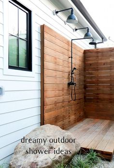 Like Us? Share Us!0080 Outdoor showers have a way of leaving an impression, no matter how tiny. In fact, building an outdoor shower space in a small area looks even more creative and private. You can make them huge and luxurious, and even small and sweet. All you need are a shower head and a …