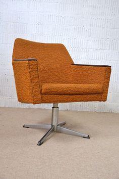 60s Retro Mid-Century EASY CHAIR ARMCHAIR SWIVEL CHAIR FAUTEUIL Vintage 50s 1/3 | eBay