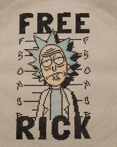 I was late to Rick and Morty but this struck a cord... Free Rick! by @slytink_xstitch #crossstitch #xstitch #xstitching #http://rickandmortypic.twitter.com/WI1pwUv0UA