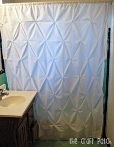 Pin Tuck shower curtain from sheet... link to tutorial The Craft Patch: Home Decor