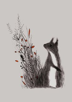 Squirrel, an art print by Linette No - INPRNT