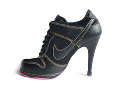 wholesale dealer 6bfc1 6847b Nike Dunk Unlucky 13 High Heels Black