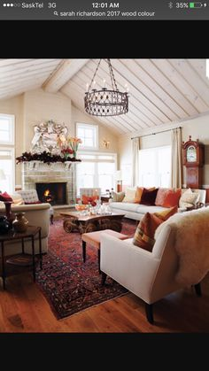 New Farmhouse Livingroom Brown Couch Light Fixtures Ideas Gray Basement, Basement Colors, Living Room Windows, Home Living Room, Joanna Gaines Living Room, Canadian House, Room Wall Colors, Farmhouse Style Kitchen, Southern Living