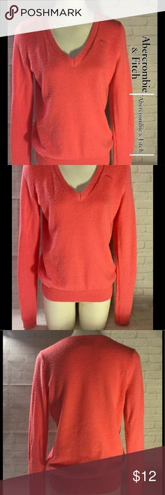Abercrombie and Fitch women's sweater medium This is a Abercrombie and Fitch women's medium sweater.  It's in good condition with no rips, stains or discoloration does have some piling I'm not for sure if that's how the sweater was made either way please refer to pic and priced accordingly.  Buy with confidence I am a Posh Ambassador, top rated seller, mentor and fast shipper.  Don't forget to bundle and save.  Thank you . Abercrombie & Fitch Sweaters V-Necks