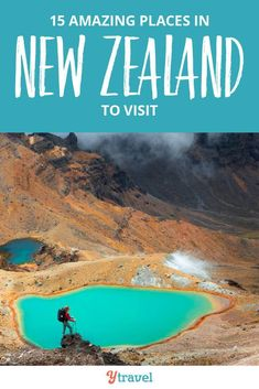15 best places to visit in New Zealand, including both the North and South Islands. Don't visit NZ until your read this New Zealand travel guide, plus get tips on where to stay in each place and things to do and best tours in New Zealand to see all the sites and gorgeous photography opportunities, hikes, and scenic drives.  #travel #NewZealand #NZ #traveltips #newzealandtravel #bucketlistideas
