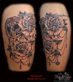 Oberschenkel - Schrift nicht von mir #forlifecolor #inked #tattoochris #christattoo #tattooraubling #ink #instatattoo #nofilter #instagood #tats #eulentttoo #dotwork #blackandgreytattoo #blackworktattoo #rosentattoo #dotwork #tattoodesign #tattooartist #tattoo #tattoos #tattoostyle #tattooedgirls #finlinetattoo #tattooidea #tattoolife #tattoolovers #tattooart #tattooed