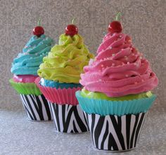 Fake Cupcake Zebra Collection One Large by 12LegsCuriosities, $10.50