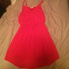 Coral EVERLY sundress Gently used gorgeous casual coral sundress. Perfect for any occasion. Everly Dresses