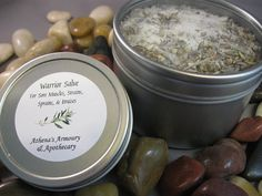 Warrior Salve and Foot Soak Gift Set - Relief for Sore Muscles, Tired Aching Feet, Strains, Sprains, Bruises