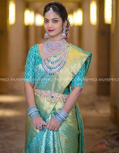 ec45200d14fbd6 Brahmani and Rajeev Reddy Wedding. South Indian BrideKerala BrideSouth  Indian WeddingsBlue Silk SareeIndian ...