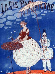 Illustration by George Barbier - La Vie Parisienne 1920s
