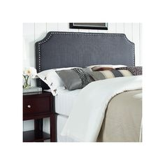 Found it at AllModern - Luna Nail Trim Upholstered Panel Headboard
