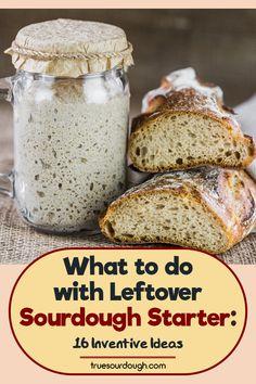 Best Sourdough Starter Recipe, Starter Recipes, Sourdough Recipes, Sourdough Bread, Cooking Bread, Bread Baking, Cooking Recipes, Yeastless Bread Recipe, Friendship Bread Starter