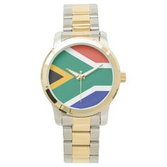 Shop Flag of South Africa Bokke Wrist Watch created by worldcuprugby. South African Traditional Dresses, Africa Flag, Cute Boyfriend Gifts, Michael Kors Watch, Bracelet Watch, Watches, Accessories, Wristwatches, Clocks