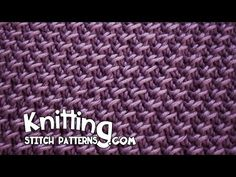 Cell stitch - knitting stitch patterns video on YouTube. Looks like it will make a nice scarf.