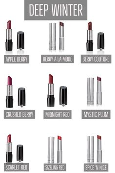 Deep Winter Lipsticks - Mary Kay
