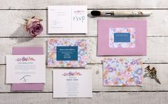 Watercolour Collection | RSVP | Information | Wishlist - https://www.etsy.com/uk/listing/463156725/watercolour-flower-wedding-stationary?ref=shop_home_active_21