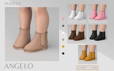 Madlen Angelo Boots New boots for the little ones. Sims 4 Toddler Clothes, Sims 4 Cc Kids Clothing, Sims 4 Mods Clothes, Toddler Shoes, Sims 4 Cc Packs, Sims 4 Mm Cc, Sims Four, Sims 4 Cas Mods, Sims 4 Body Mods
