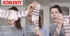Lauran hostsisko opetti hänelle uuden tavan viikata sukat. Mma, Fitbit, Gloves, Fashion, Moda, Fashion Styles, Fashion Illustrations, Mixed Martial Arts