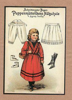 Vintage German Paper Doll Note Cards