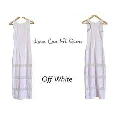 Off White!   Vestido Longo Branco- ❤ Página: Vestidos Tam: P e M ✅ R$ 399,00  Compre pela loja virtual ou whats www.loucacomomequeres.com.br 61 - 8264-6852  #uselouca #loucacomomequeres #LCMQ #compreagora #vestidolongobranco #offwhite  #moda #fashion  #fashiondesigner #brasilia #brasiliandesigner