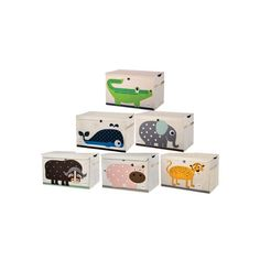 """3 Sprouts toy chest because organisation is a beautiful thing. These extra large storage boxes make it easy to tidy up. Their adorable animal characters add a fun atmosphere to the room. Features Care Instructions: spot clean only  15″ height x 24″ width x 14.5″ depth  38.1  x 60.95 x 36.83  cm"""