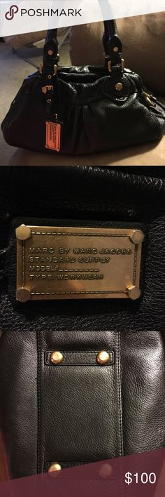 "Marc by Marc Jacobs black leather purse Marc by Marc Jacobs Classic Q Baby Groovee leather satchel 12 1/2"" W x 7 1/2"" H x 5"" D Marc By Marc Jacobs Bags Satchels"
