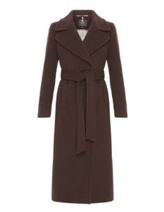 M&S Collection Wool Rich Long Belted Wrap Coat with Cashmere £129