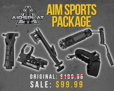 **SPECIAL DEAL!** AIM Sports Package! Like & Share! SALE: $99.99 / ORG: $189.96 http://www.airsplat.com/index.asp?FSCat=102