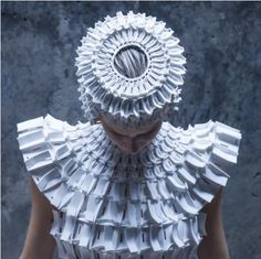 These garments made from interlocking foam pieces by Croatian designer Matija Čop reference construction techniques and shapes found in gothic architecture