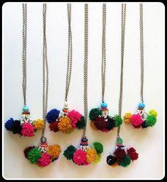 Lilac Skin PomPom Necklaces